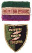 RARE ' VOTES FOR WOMEN ' SUFFRAGETTE CLOTH ARM PATCHES