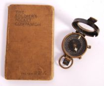 WWI FIRST WORLD WAR SOLDIER'S MARCHING COMPASS & BOOK