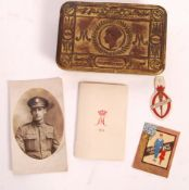 WWI FIRST WORLD WAR PRINCESS MARY TIN W/SOME CONTENTS
