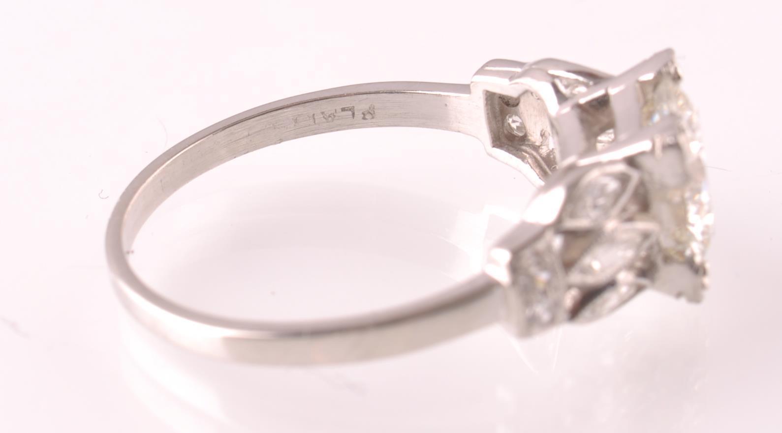 Lot 34 - ART DECO PLATINUM AND DIAMOND SOLITAIRE 2CT RING