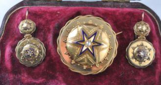 19TH CENTURY ETRUSCAN REVIVAL GOLD & DIAMOND DEMI