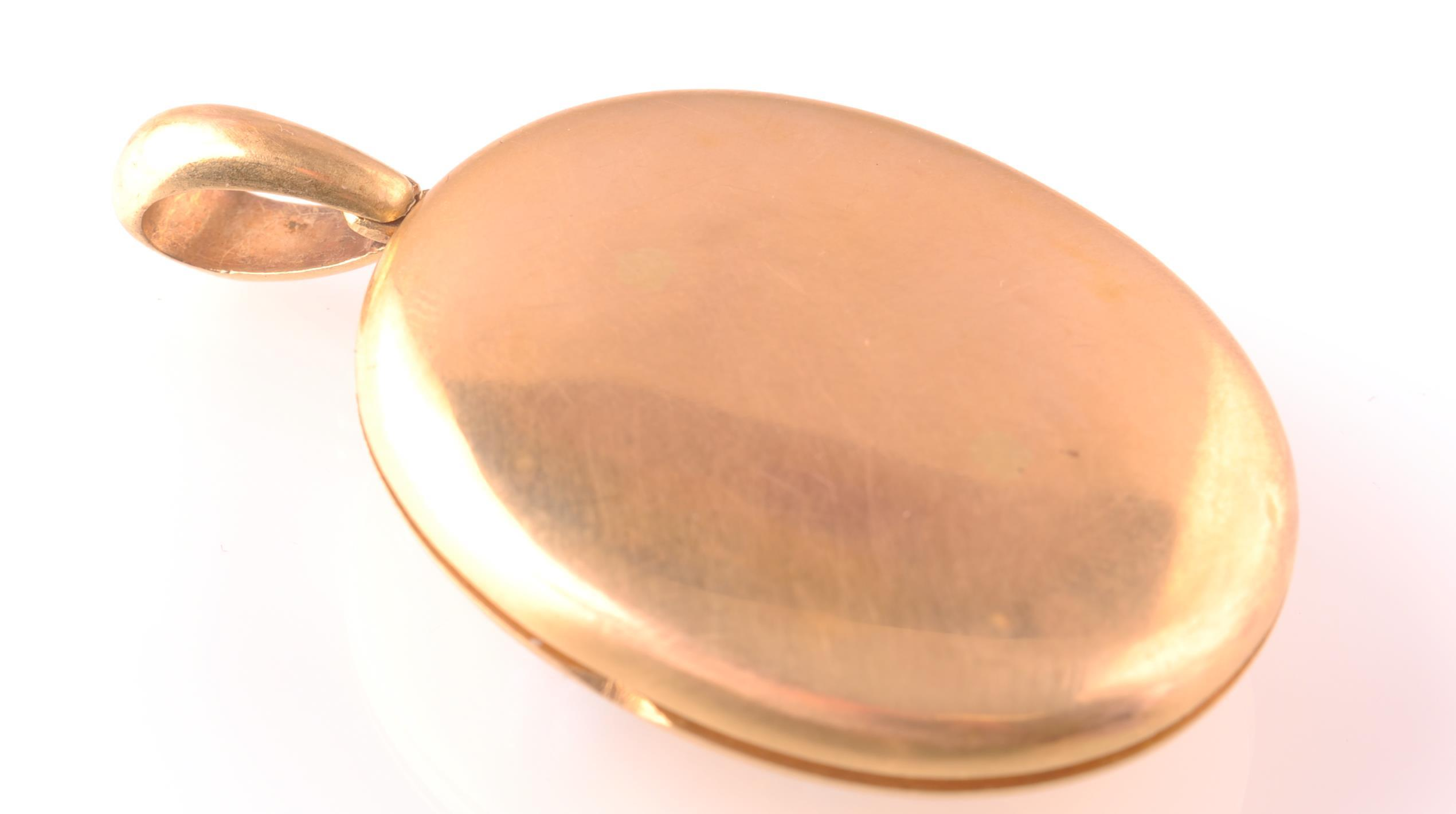 Lot 93 - AN 18CT GOLD VICTORIAN TURQUOISE & DIAMOND LOCKET