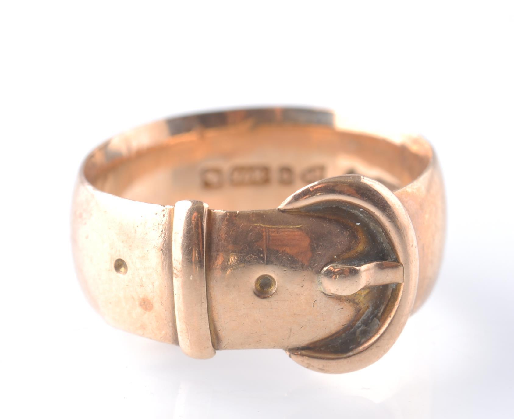Lot 137 - EDWARDIAN 1909 18CT GOLD CHESTER HALLMARKED BUCKLE