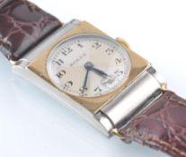 RARE ROLEX 1930'S BI COLOUR GOLD AND STEEL WRIST W