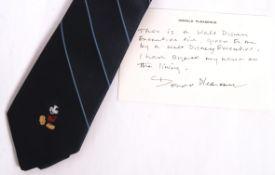 DONALD PLEASENCE - BRITISH ACTOR JAMES BOND - WORN NECK TIE