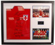 WORLD CUP 1966 ENGLAND SQUAD AUTOGRAPHED REPLICA SHIRT PRESENTATION