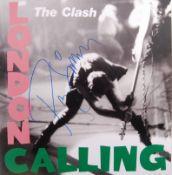 THE CLASH - PAUL SIMONON - AUTOGRAPHED ALBUM COVER