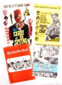 COLLECTION OF RARE VINTAGE ' CARRY ON ' FILM CAMPAIGN BROCHURES
