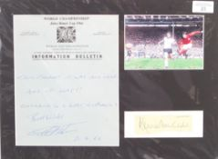 WORLD CUP 1966 - ' THEY THINK IT'S ALL OVER ' AUTOGRAPH DISPLAY