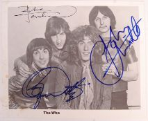 """RARE ' THE WHO ' VINTAGE SIGNED 8X10"""" PROMOTIONAL PHOTOGRAPH"""