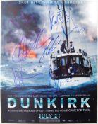 DUNKIRK - RARE CAST MULTI-SIGNED MOVIE POSTER