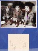 RARE THE JIMI HENDRIX EXPERIENCE AUTOGRAPHED ALBUM PAGE