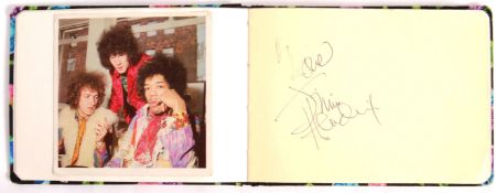 INCREDIBLE JIMI HENDRIX AUTOGRAPHED SIGNED ALBUM PAGE