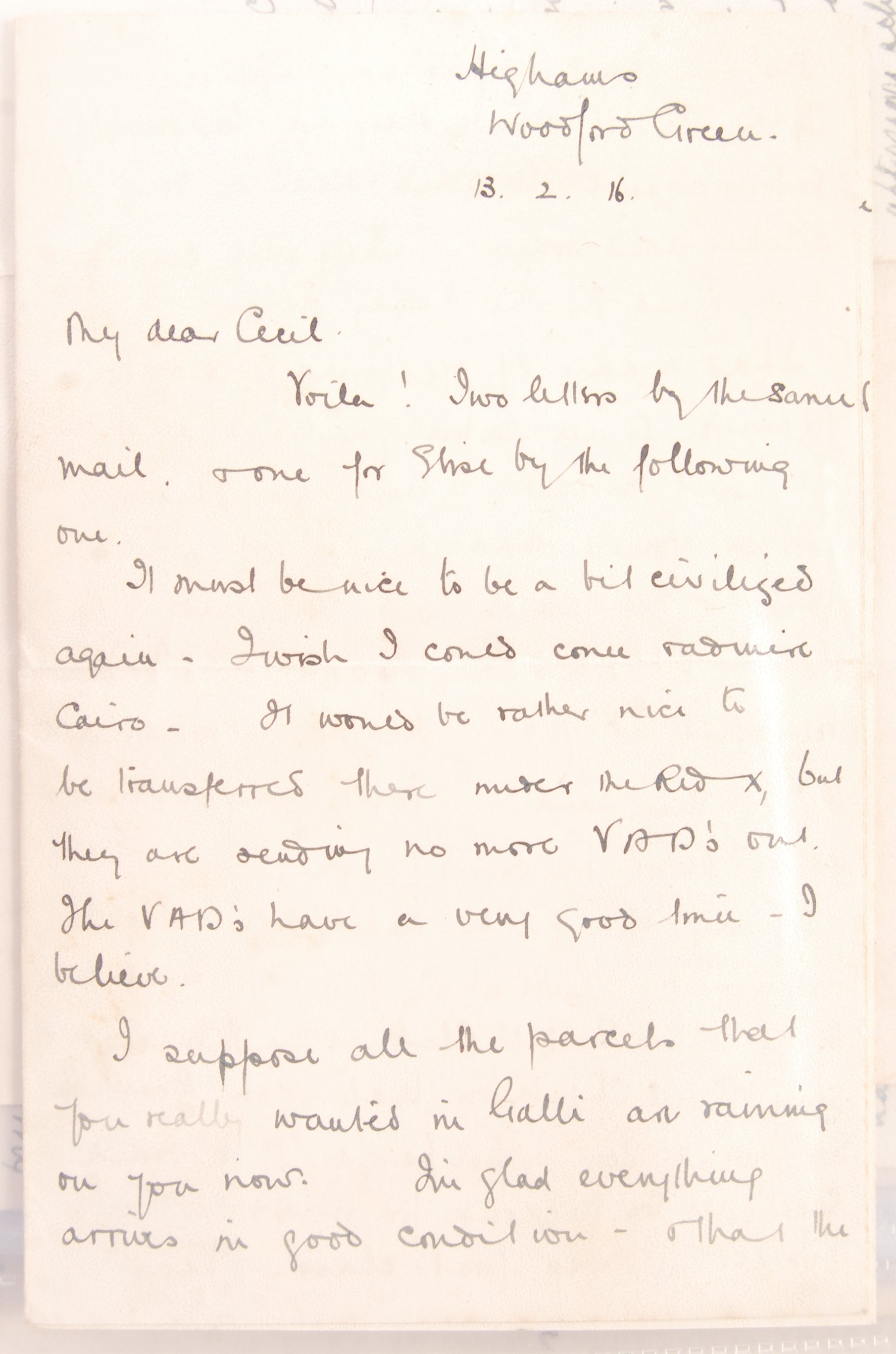 Lot 49 - FASCINATING COLLECTION OF LETTERS TO A SERVING SOL