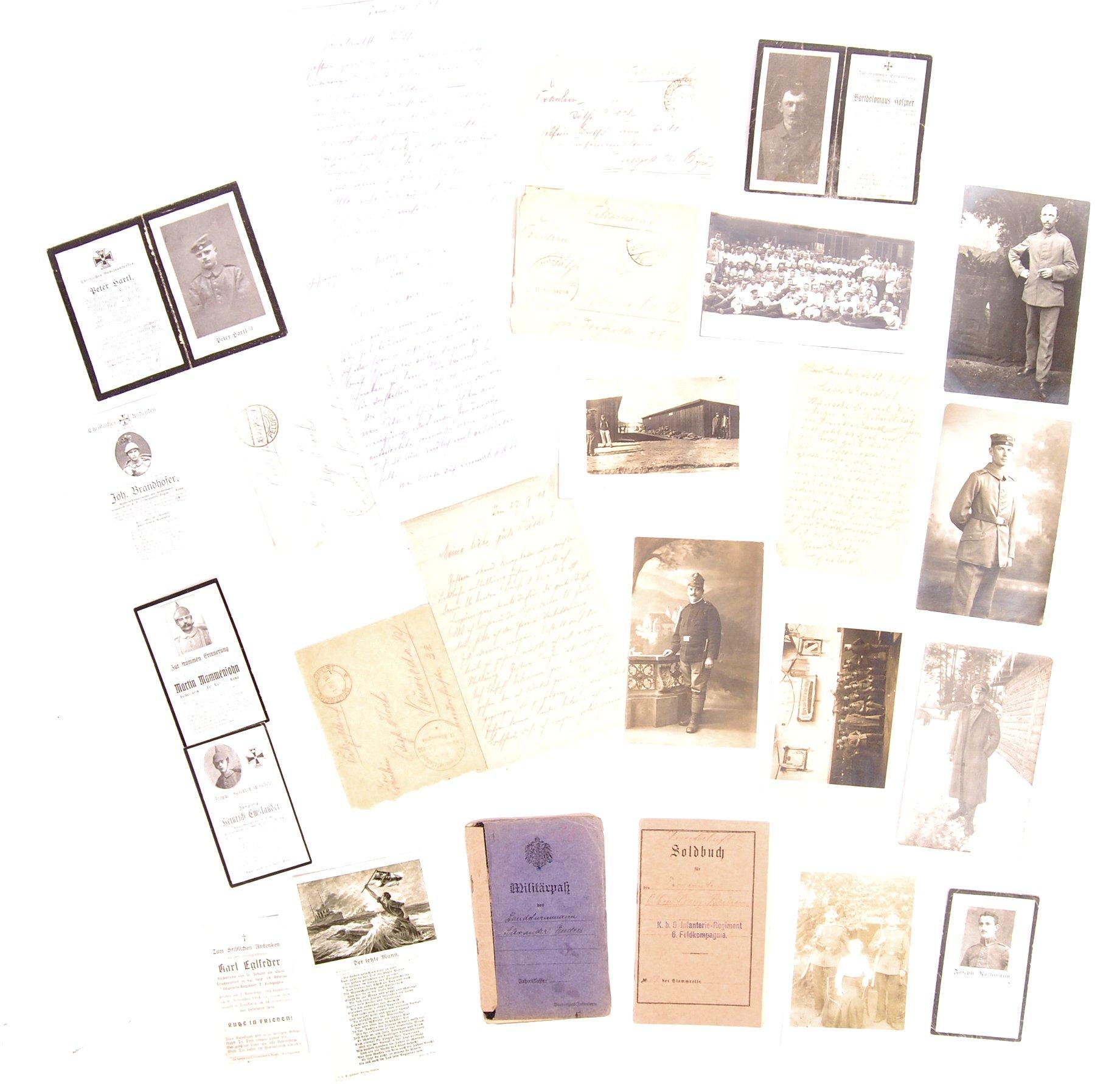 Lot 115 - COLLECTION OF WWI FIRST WORLD WAR GERMAN EPHEMERA