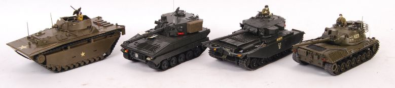 COLLECTION OF 4X JAPANESE 1/35 SCALE MODEL TANKS