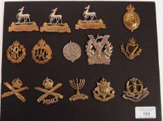 WWI FIRST WORLD WAR RELATED UNIFORM CAP BADGES