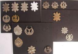 COLLECTION OF SCOTTISH REGIMENT UNIFORM CAP BADGES