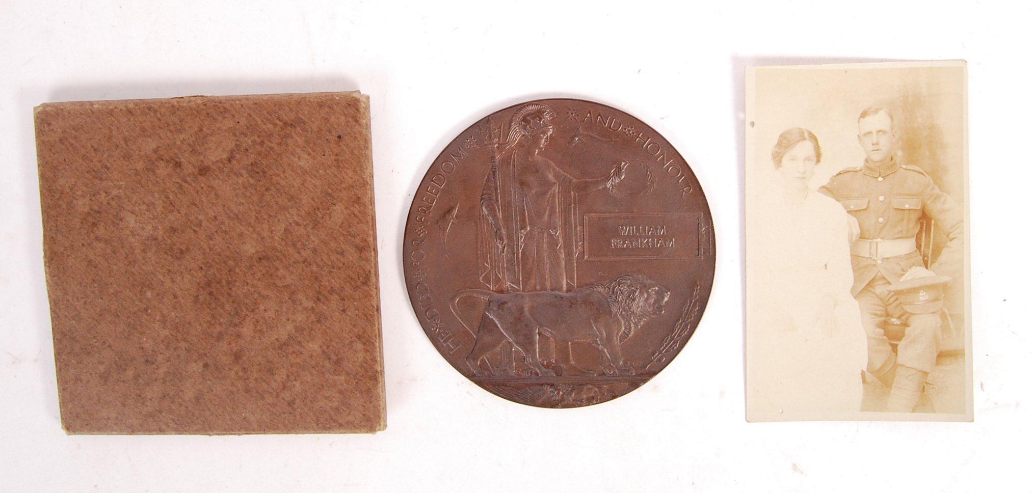 Lot 8 - WWI FIRST WORLD WAR DEATH / MEMORIAL PLAQUE / PENN