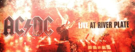 RARE AC/DC DUAL SIGNED LARGE DVD LAUNCH POSTER CAR