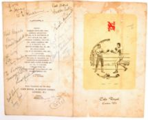 RARE 1950'S BOXING PROGRAMME AUTOGRAPHED BY THOSE