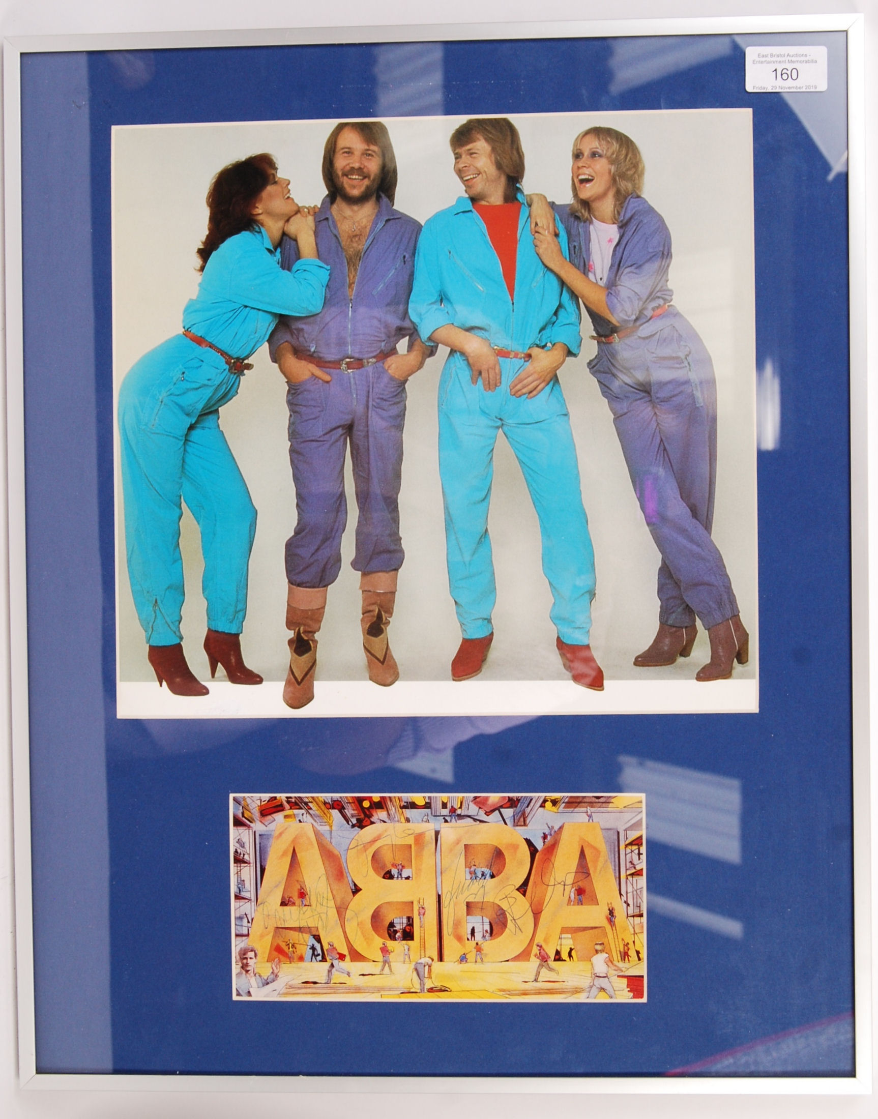 Lot 160 - RARE ABBA PROMOTIONAL POSTCARD FULLY SIGNED BY BAN