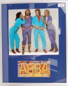 RARE ABBA PROMOTIONAL POSTCARD FULLY SIGNED BY BAN