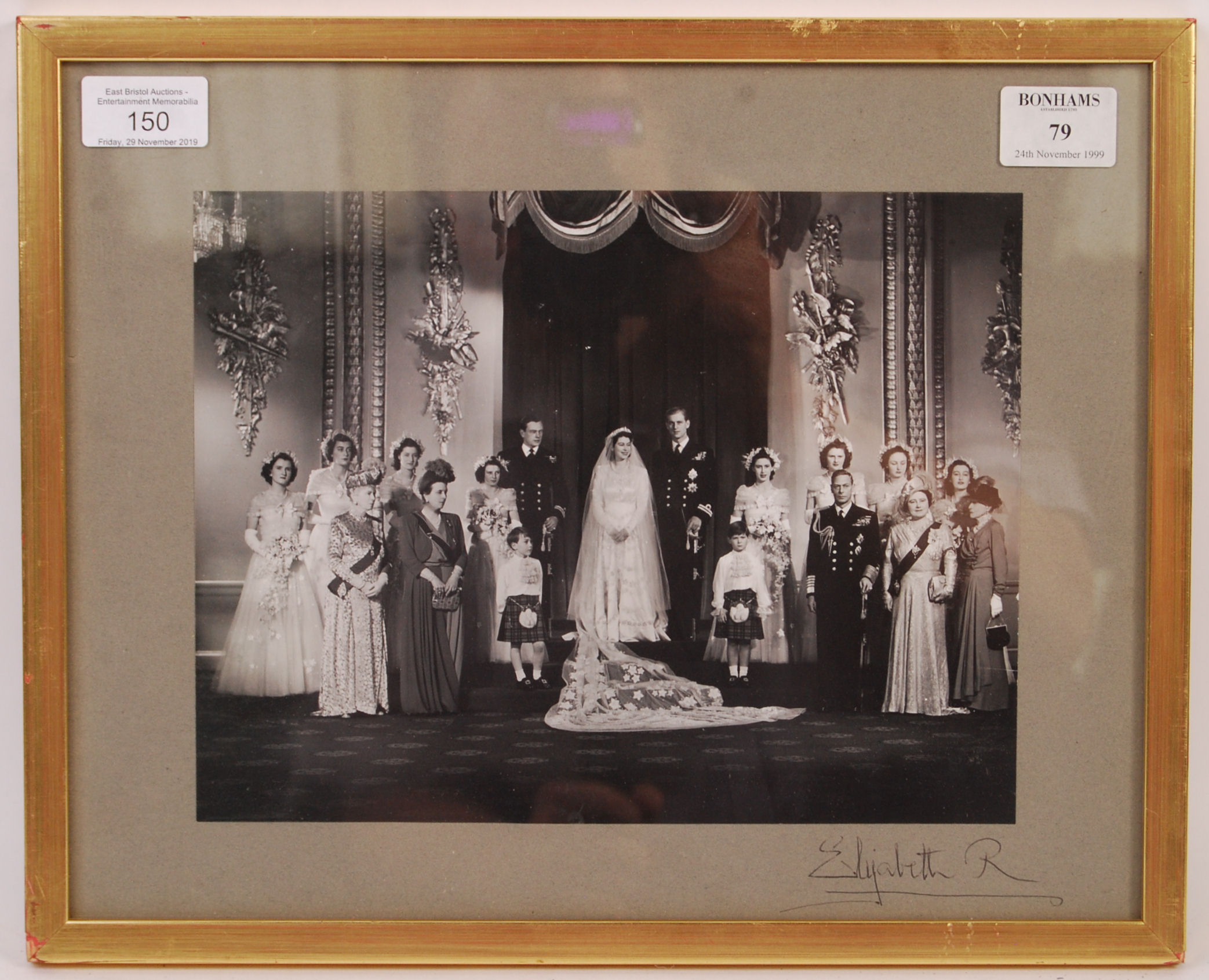 Lot 150 - RARE QUEEN ELIZABETH QUEEN MOTHER OFFICIAL SIGNED