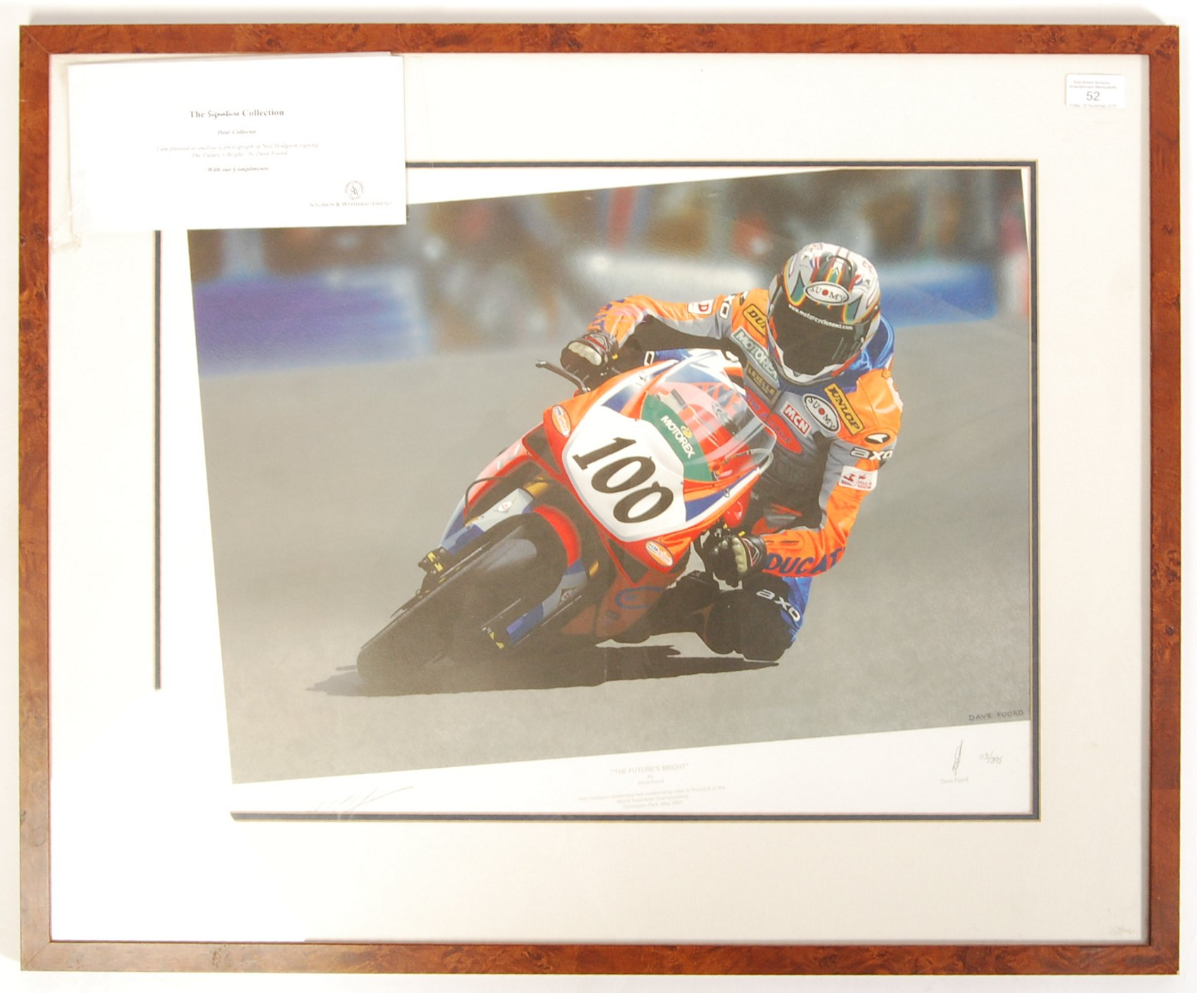 Lot 52 - ' THE FUTURE'S BEST ' BY DAVE FORD AUTOGRAPHED NEI