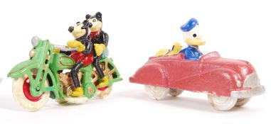 NOVELTY MICKEY MOUSE AND DONALD DUCK CAST METAL MO