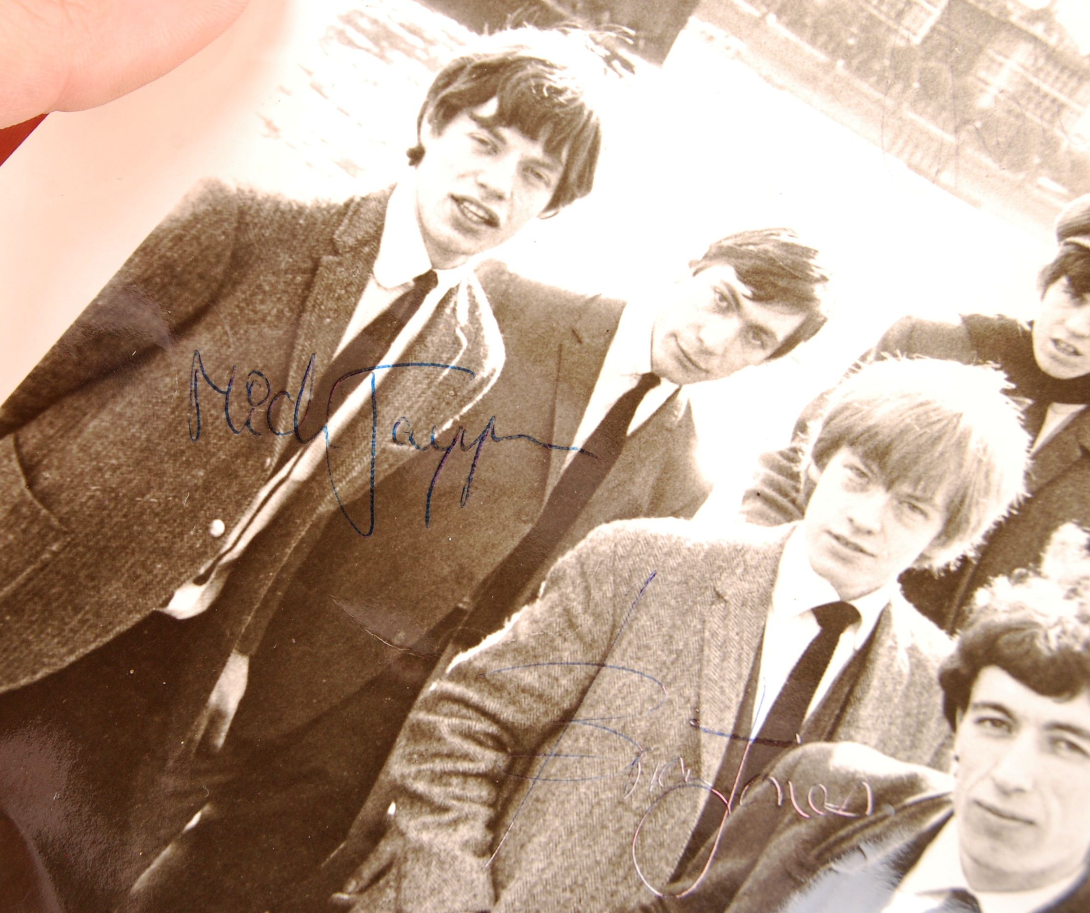 """Lot 99 - RARE THE ROLLING STONES EARLY AUTOGRAPHED 8X10"""" PH"""
