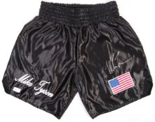 MIKE TYSON - INCREDIBLE SIGNED PAIR OF BOXING SHOR