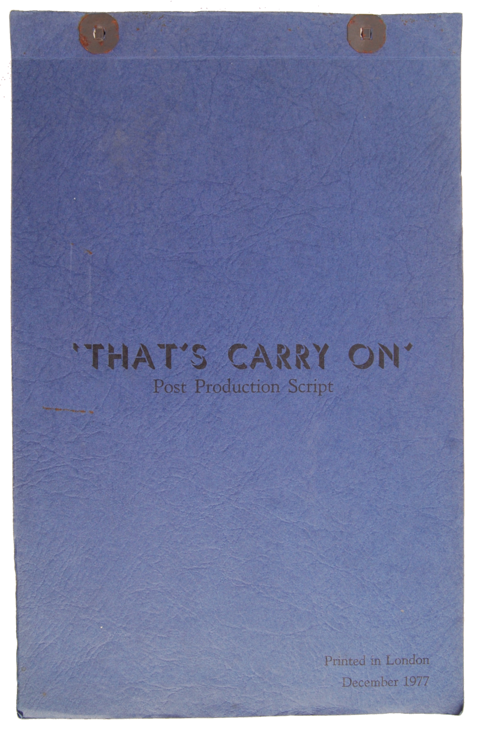 Lot 56 - RARE VINTAGE ' THAT'S CARRY ON ' POST PRODUCTION S