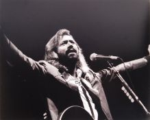 """BARRY GIBB - THE BEEGEES - AUTOGRAPHED 8X10"""" BLACK"""