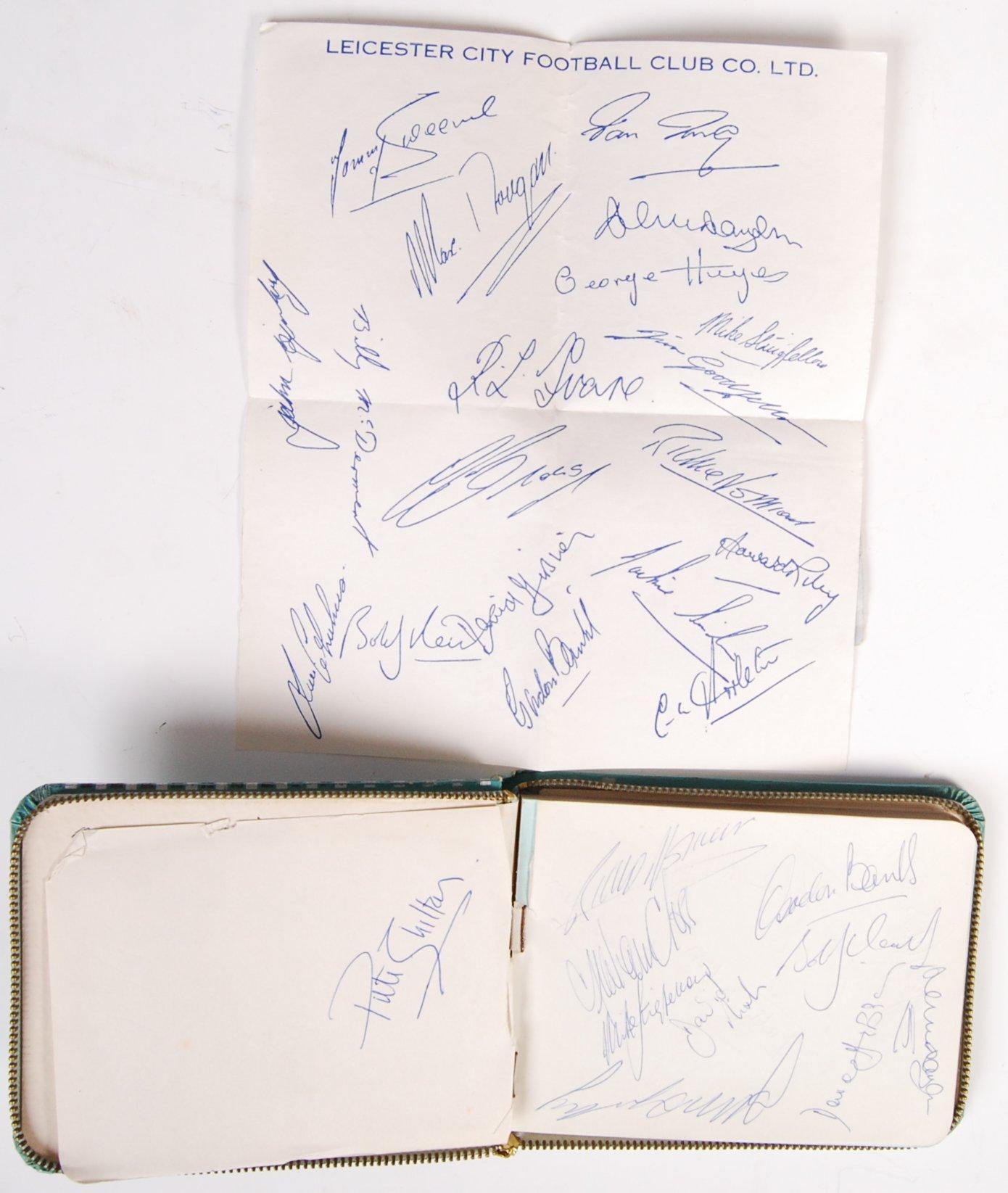 Lot 69 - 1960'S AUTOGRAPH BOOK - LEICESTER CITY & FOOTBALLE