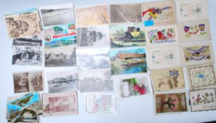 A collection of vintage postcards dating from the