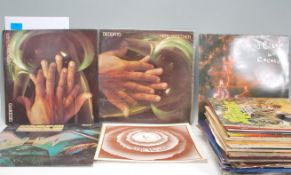 A collection of Long Play / LP vinyl record albums
