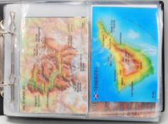 An album of geographical related holographic postc