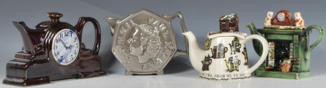 A group of four Cardew collectors teapots to inclu