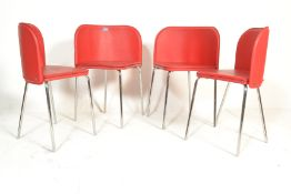 A set of four retro American diner style wedge din