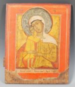 A 19th Century Russian School Religious Icon paint