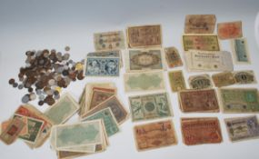 A good collection of German banknotes dating pre W