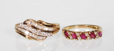 Two 9ct gold ladies rings to include a hallmarked
