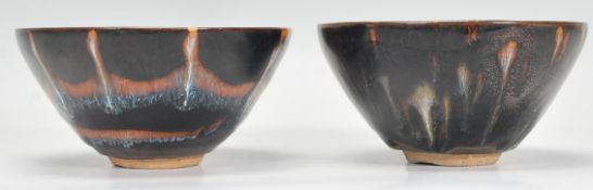 Two 19th Century Chinese earthenware tea bowls of