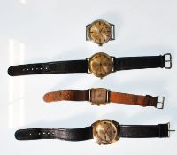 A collection of 4 vintage gents wristwatches to in