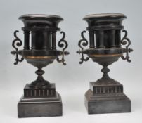 A pair of 19th Century neo-classical slate mantel