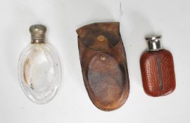 Two early 20th Century antique pocket flasks to in