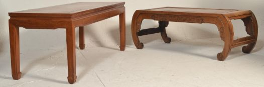A 20th century Chinese hardwood opium table / rect