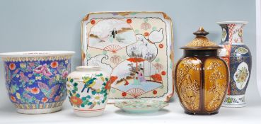 A collection of Chinese ceramics to include a lar