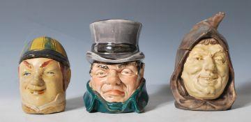 A group of three German / Austrian ceramic novelty
